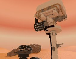 curiosity rover mars rigged 3d