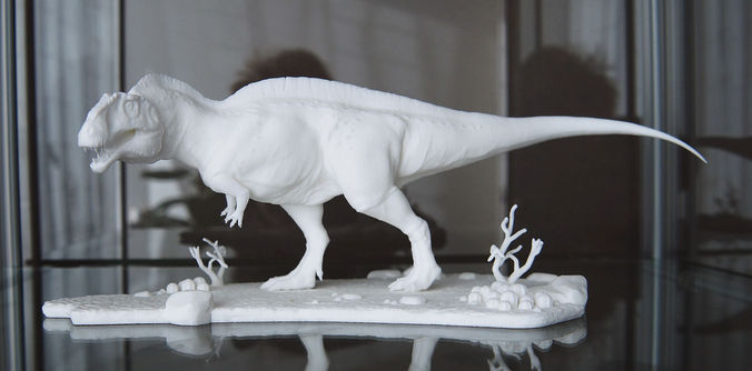 Acrocanthosaurus With Desert Pedestal High Quality 3d