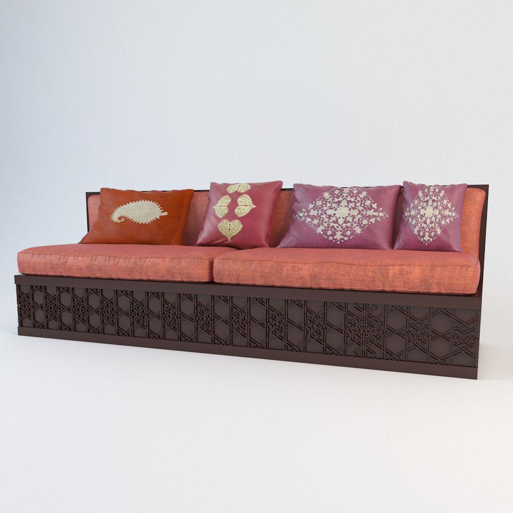 ... Moroccan Classic Sofa 3d Model Max 2