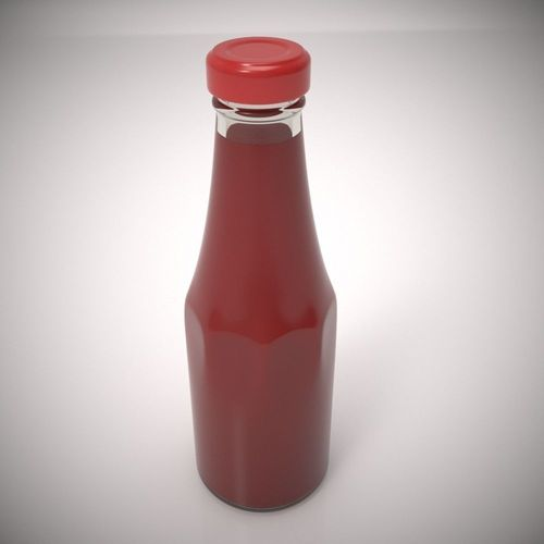 ketchup bottle 3d model max obj 1