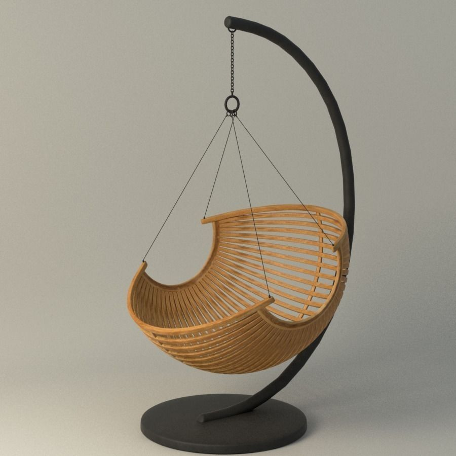3d Wood Hanging Chair Cgtrader