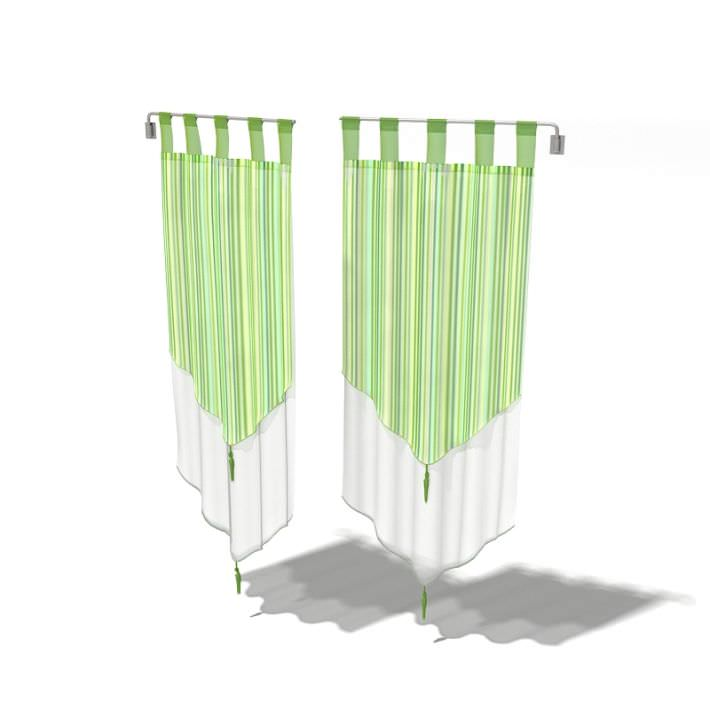 Hanging Green Curtains
