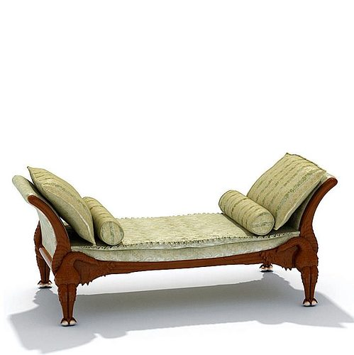 Elegant antique chase lounge 3d model cgtrader - Vintage pieces of furniture old times elegance ...