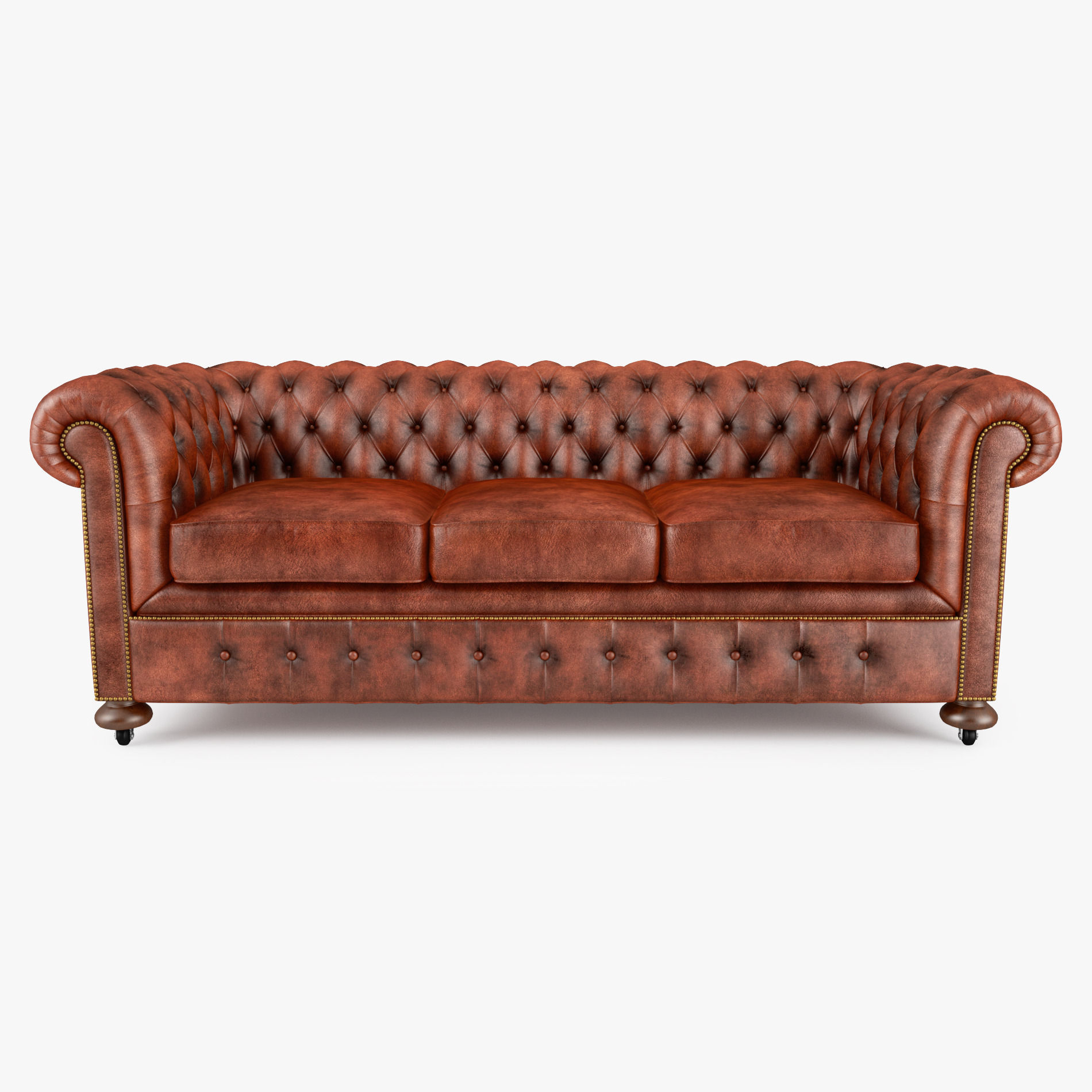 William Blake Sofa Chesterfield Leather 3d Model Max Obj 3ds Fbx Mtl 1 ...