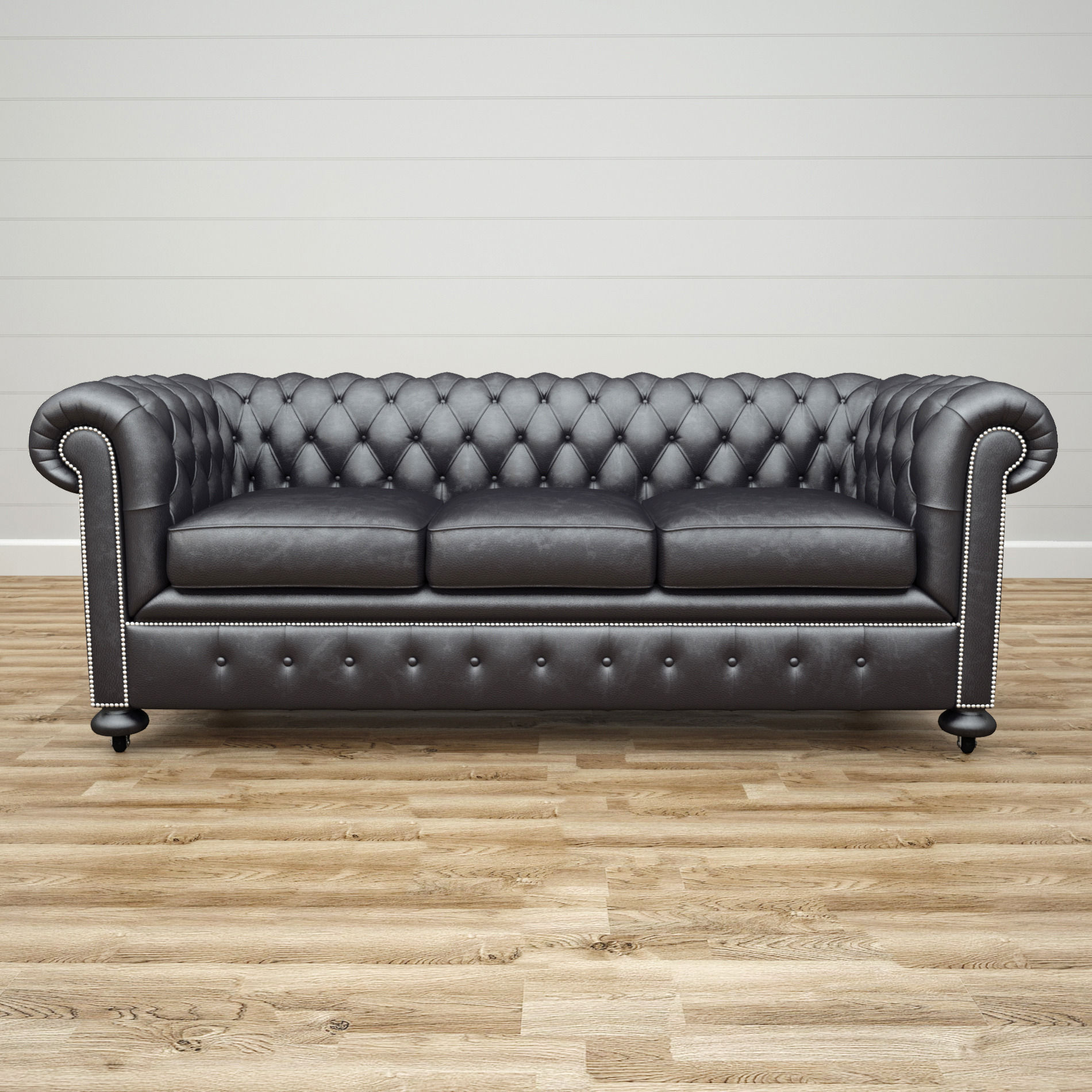 Superieur ... William Blake Sofa Chesterfield Leather Black 3d Model Max Obj 3ds Fbx  Mtl 2 ...