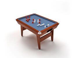 Blue Billiard Table 3D