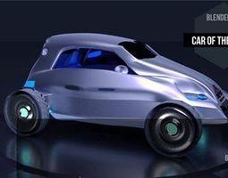 electric car future 3D model