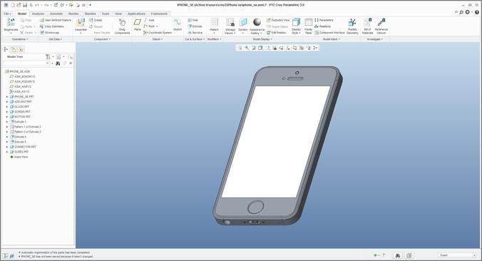 iphone se - original dimensions 3d model max obj mtl stl ige igs iges stp 1