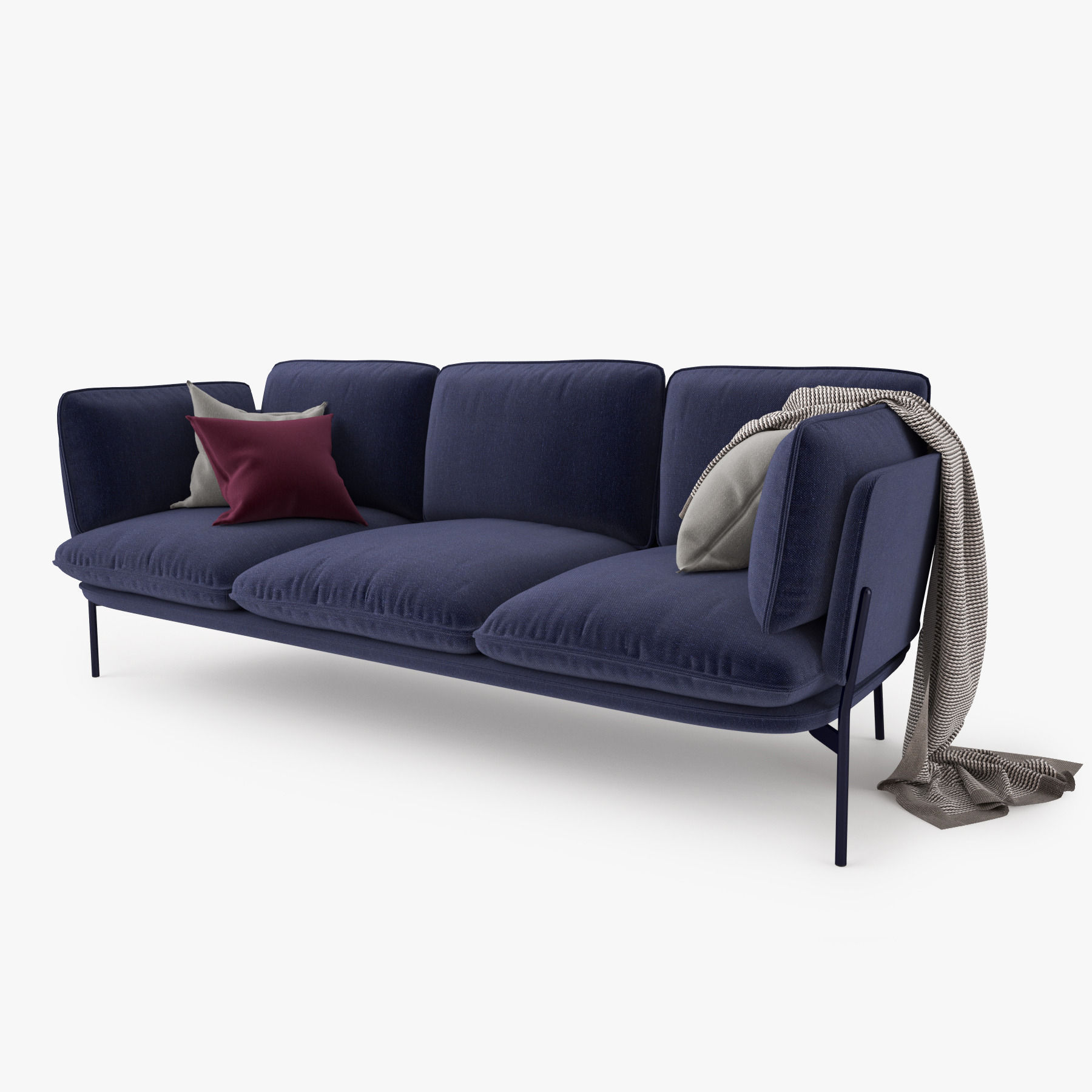 And Tradition Cloud Three Seater Sofa 3D