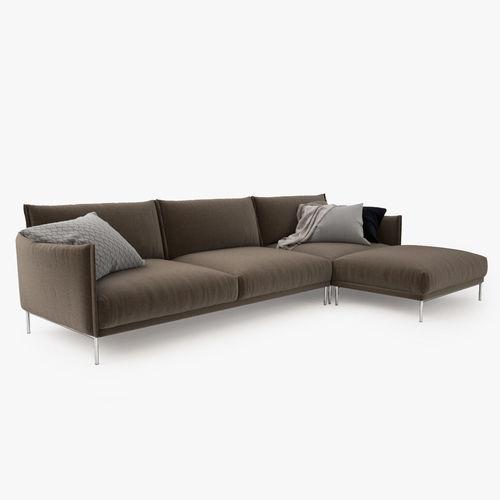 ... moroso gentry corner sofa 3d model max obj mtl fbx tga 3 ...