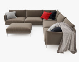 3D Moroso Gentry Sectional Sofa