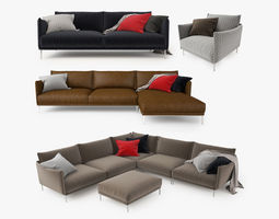 3D Moroso Gentry Sofa Collection