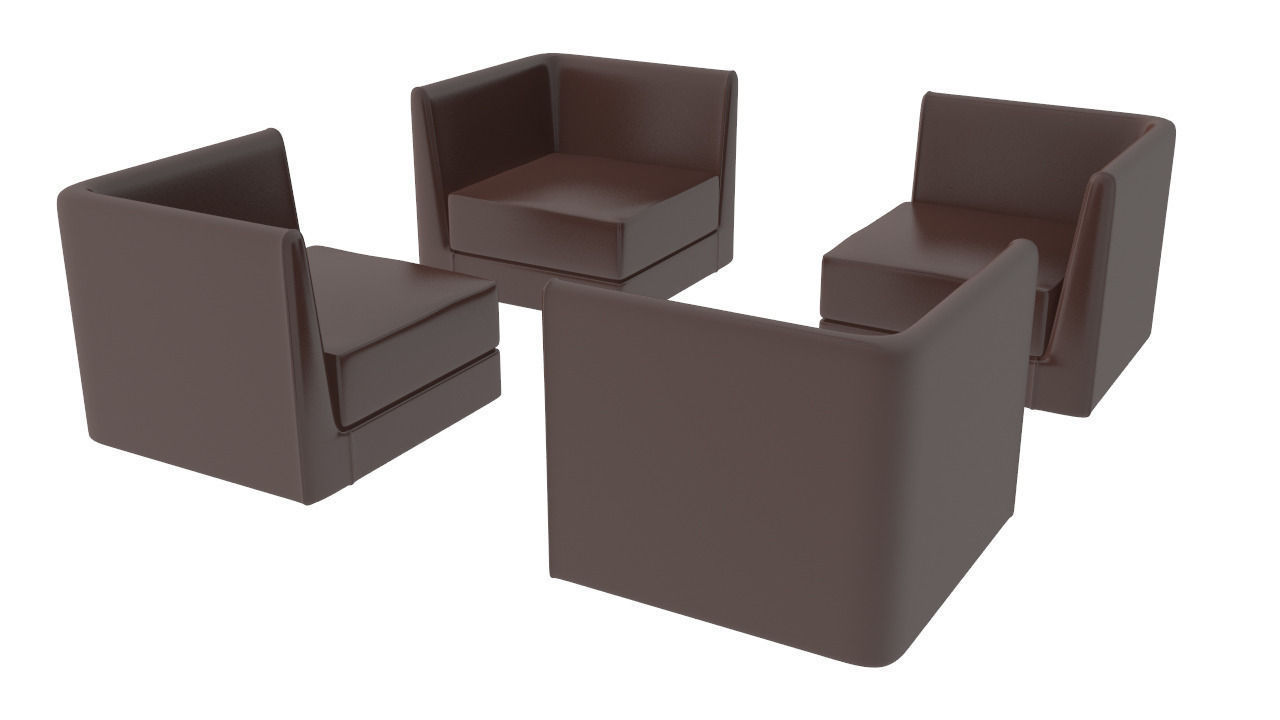 Modular furniture -  Modular Furniture Set 3d Model Max Obj 3ds Fbx 5