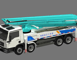 3d pump truck animated