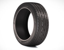 photorealistic car tire  3d