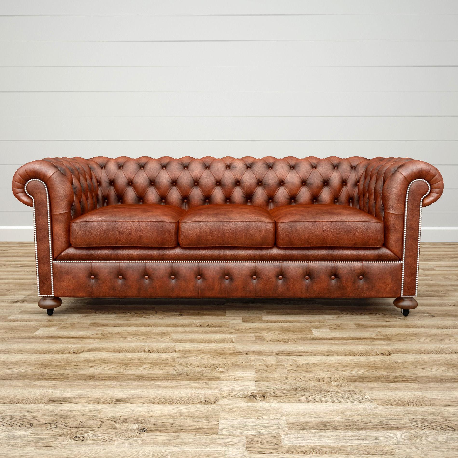 3D William Blake Chesterfield Sofa