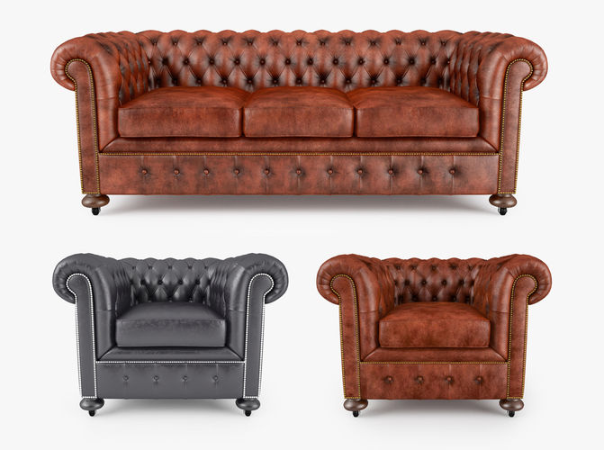 william blake chesterfield sofa collection 3d model max obj mtl fbx 1