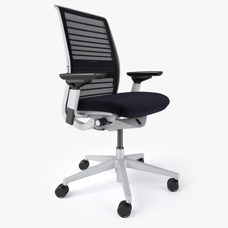 Steelcase think chair -  Steelcase Think Chair 3d Model Max Obj Fbx Mtl 2