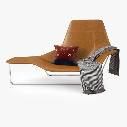 Marvelous Zanotta Lama Lounge Chair 3D Model Beatyapartments Chair Design Images Beatyapartmentscom