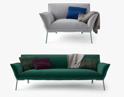 3d model jardan lewis sofa and armchair