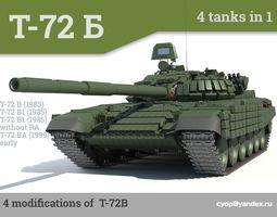 t-72b russian main battle tanks 4 in 1 3d