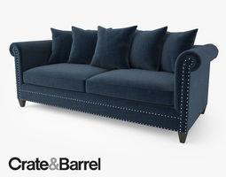 Crate And Barrel Dryden Apartment Sofa 3d Model Max Obj
