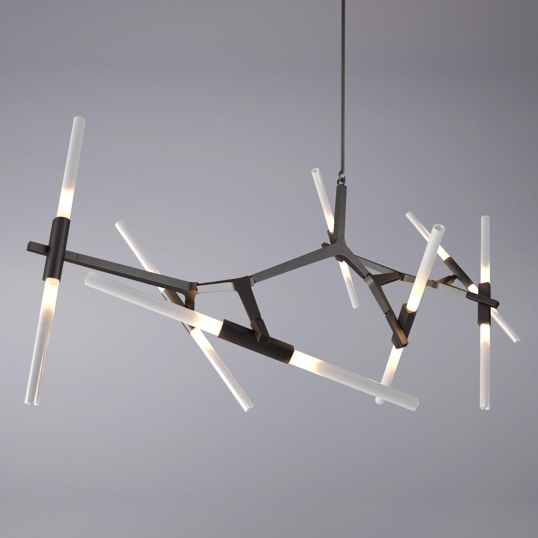 Agnes Chandelier - 14 Bulbs By Lindsey Adelman 3D model MAX OBJ FBX MTL