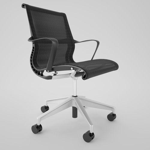 Herman Miller Setu Office Chair Model Max Obj Fbx Mtl 2