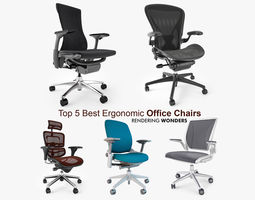 Top 5 Best Ergonomic Office Chairs 3D