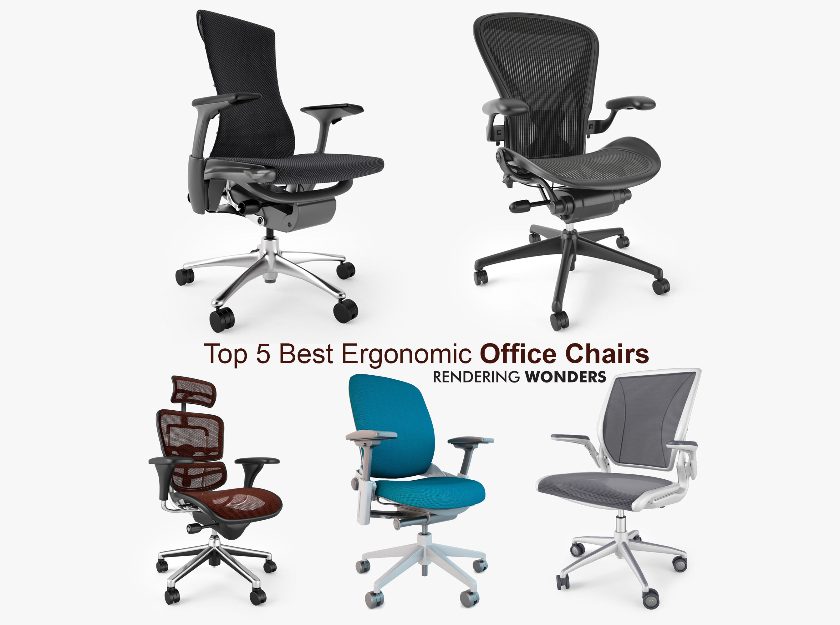 Top 5 Best Ergonomic fice Chairs 3D
