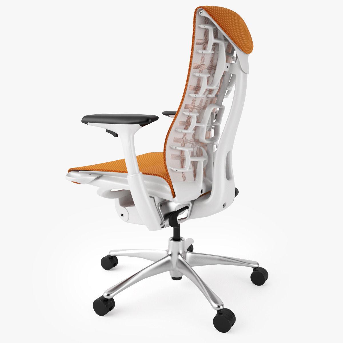 Top 5 best ergonomic office chairs 3d model max obj fbx for Ergonomic chair