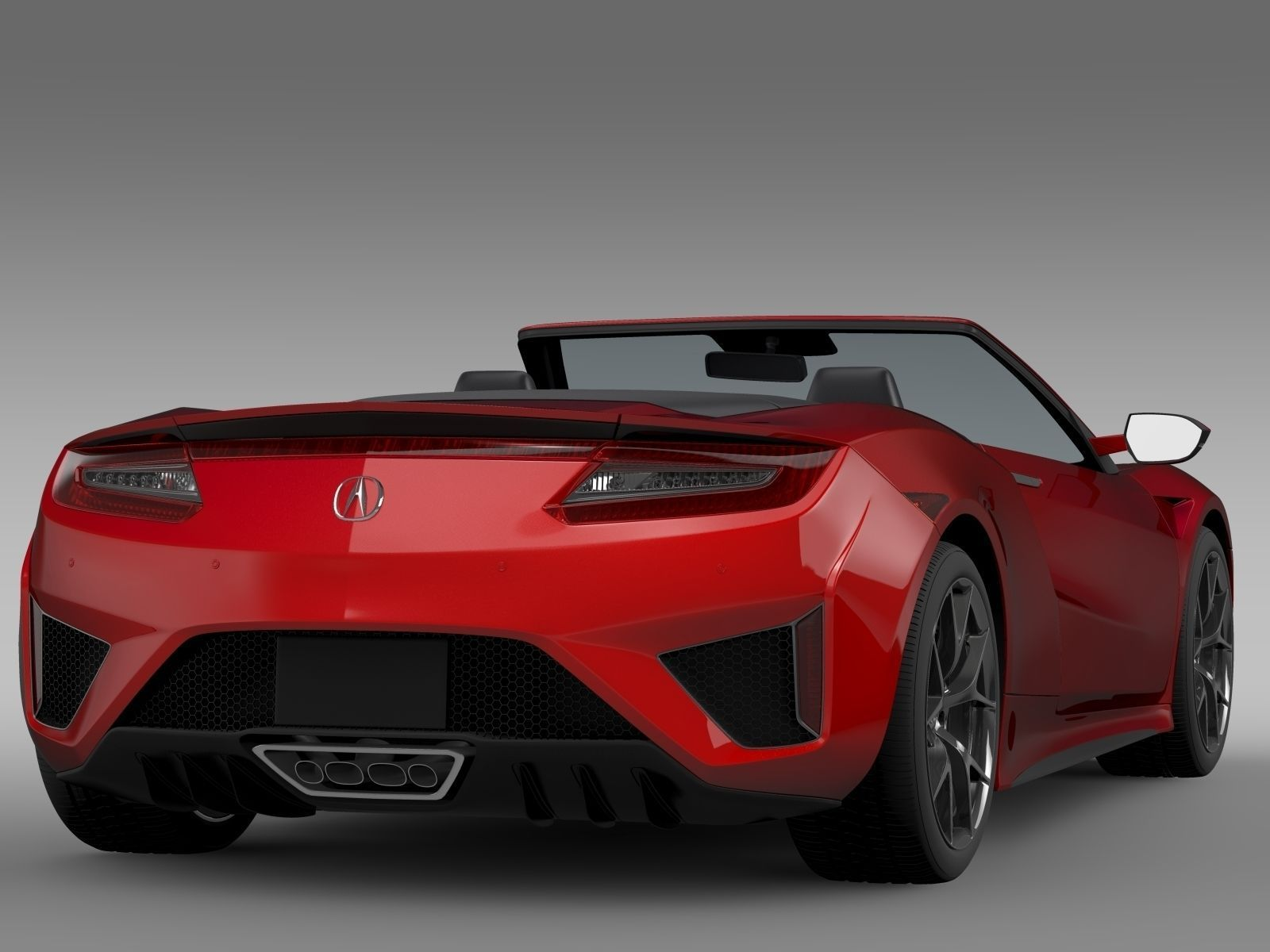 acura nsx cabriolet 2017 3d model max obj 3ds fbx c4d lwo lw lws. Black Bedroom Furniture Sets. Home Design Ideas