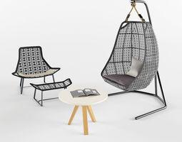garden furniture lounge 3d