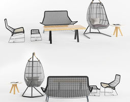 garden furniture set 1 3d
