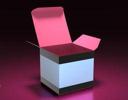 animated 3d creme jar box v001