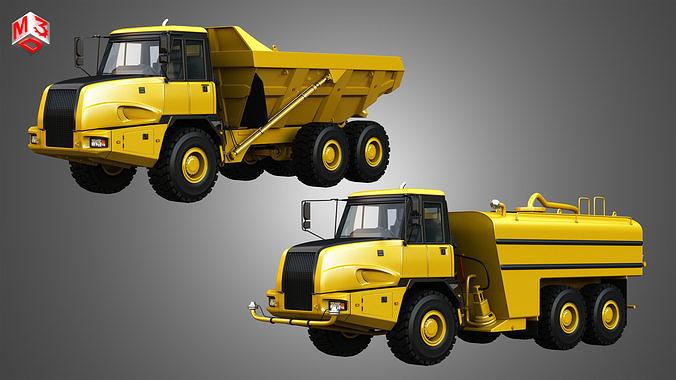 JD - 300D II Articulated Dump - Water Tanker Trucks 2 in 1