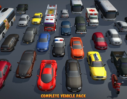 game-ready complete vehicle pack v1 3d asset