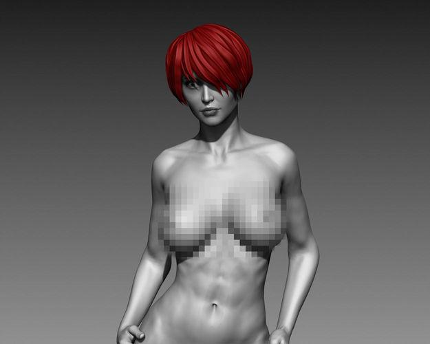 sexy posed woman 9 zbrush hd 3d model obj mtl ztl 1