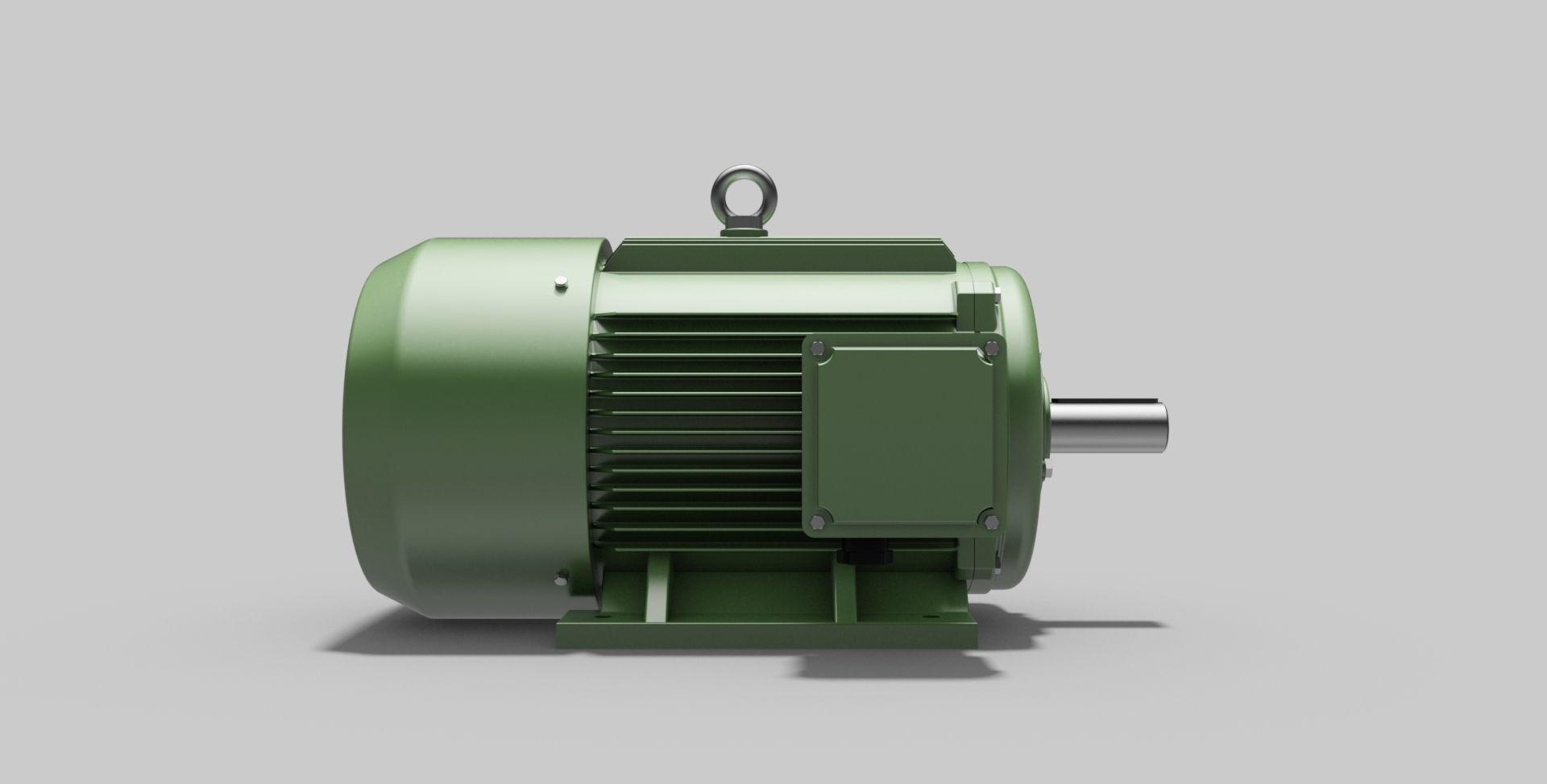 180L-B3 Left - Electric Motor - Free 3D CAD Model free 3D model DWG