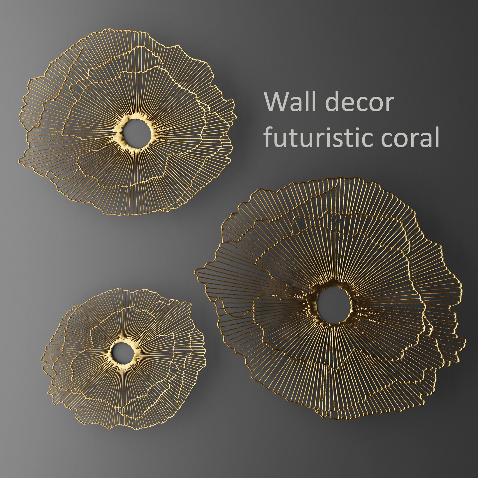 Wall decor futuristic coral Panel 3D | CGTrader