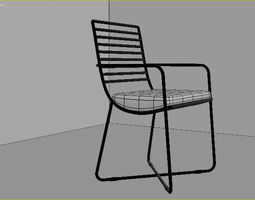 3D model chairs armrests