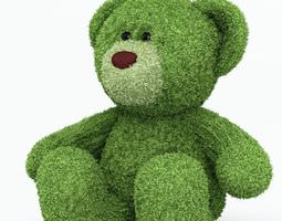 green teddy bear 3d model obj