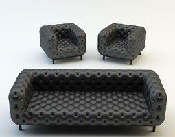 chesterfield classic sofa armchair chair 3d model max