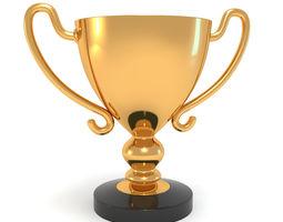 3D Goldedn Champion Cup Winner