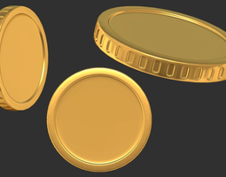 Cash money coin 3D