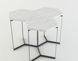 3D model Marble HexagonTable