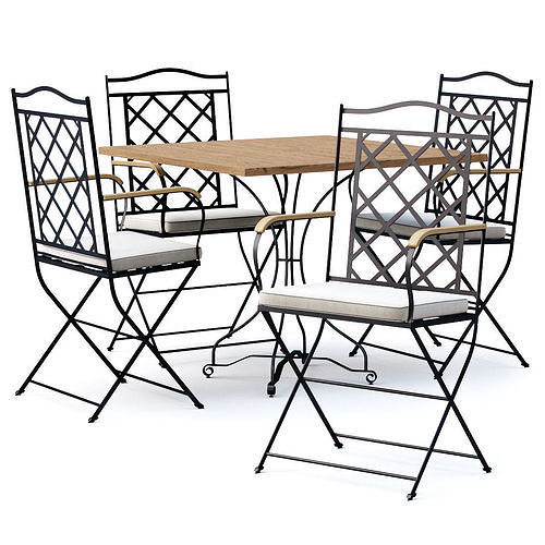 Manutti St-Tropez Dining Chair with Firenze bistro table