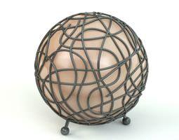 green wire lamp 3d model