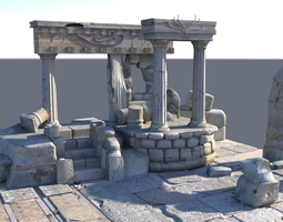 3D Detailed Temple Ruins