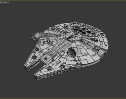 starwar spacecraft 3D